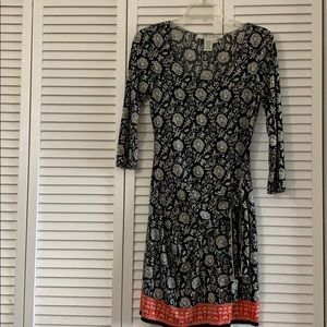 Max Studio Dress with Ruched Tie